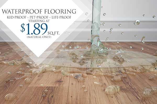 Waterproof Flooring $1.89 Sq. Ft.