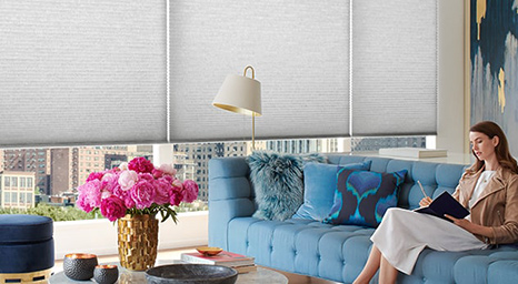 Hunter Douglas' innovative honeycomb shade collection brings warmth and energy efficiency to your home.